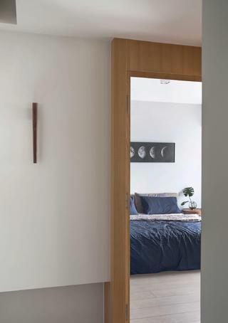 130平现代三居装修卧室一瞥
