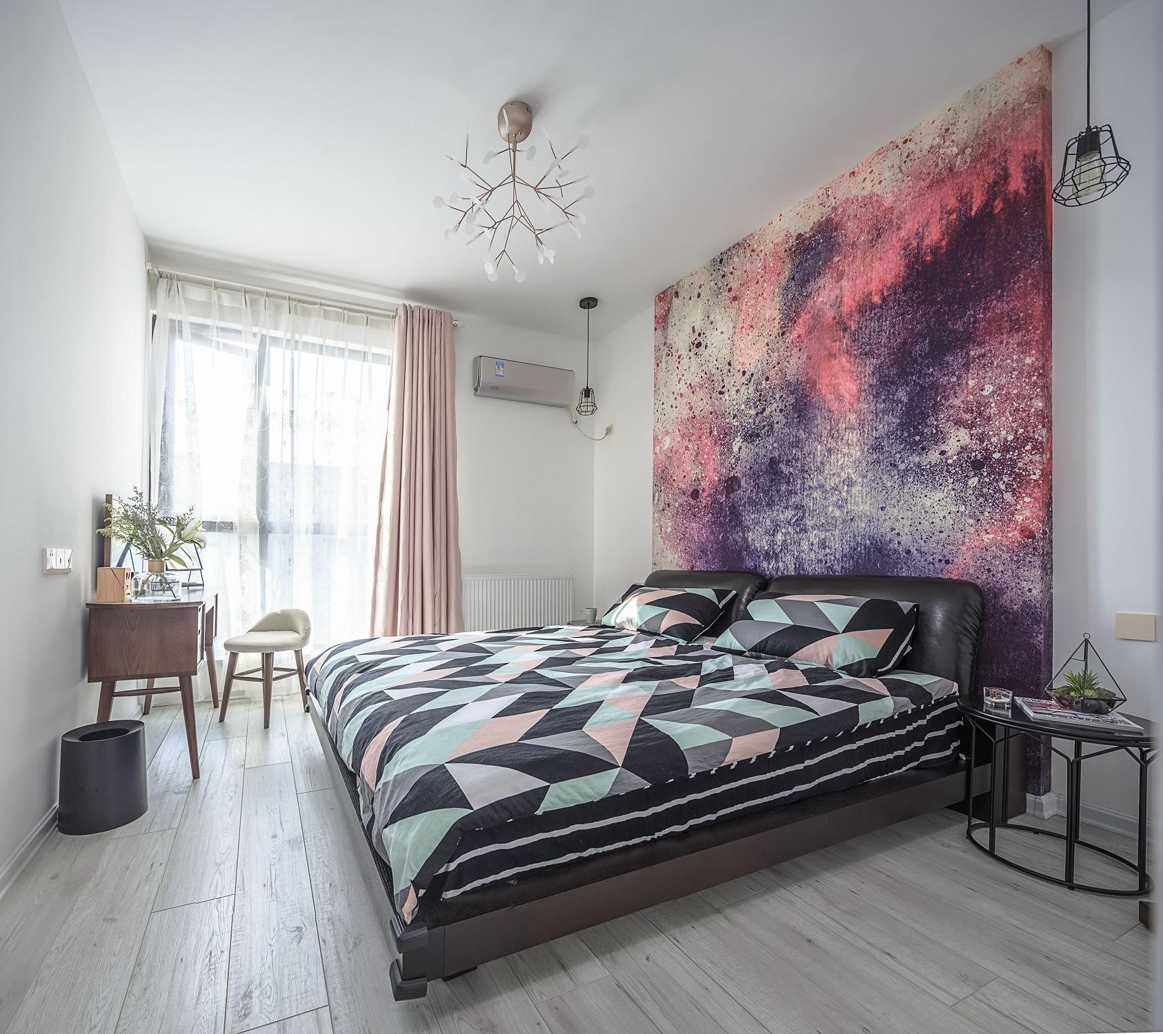 108㎡北欧风格家卧室设计图