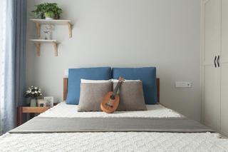 60平北欧二居空间床头背景墙图片