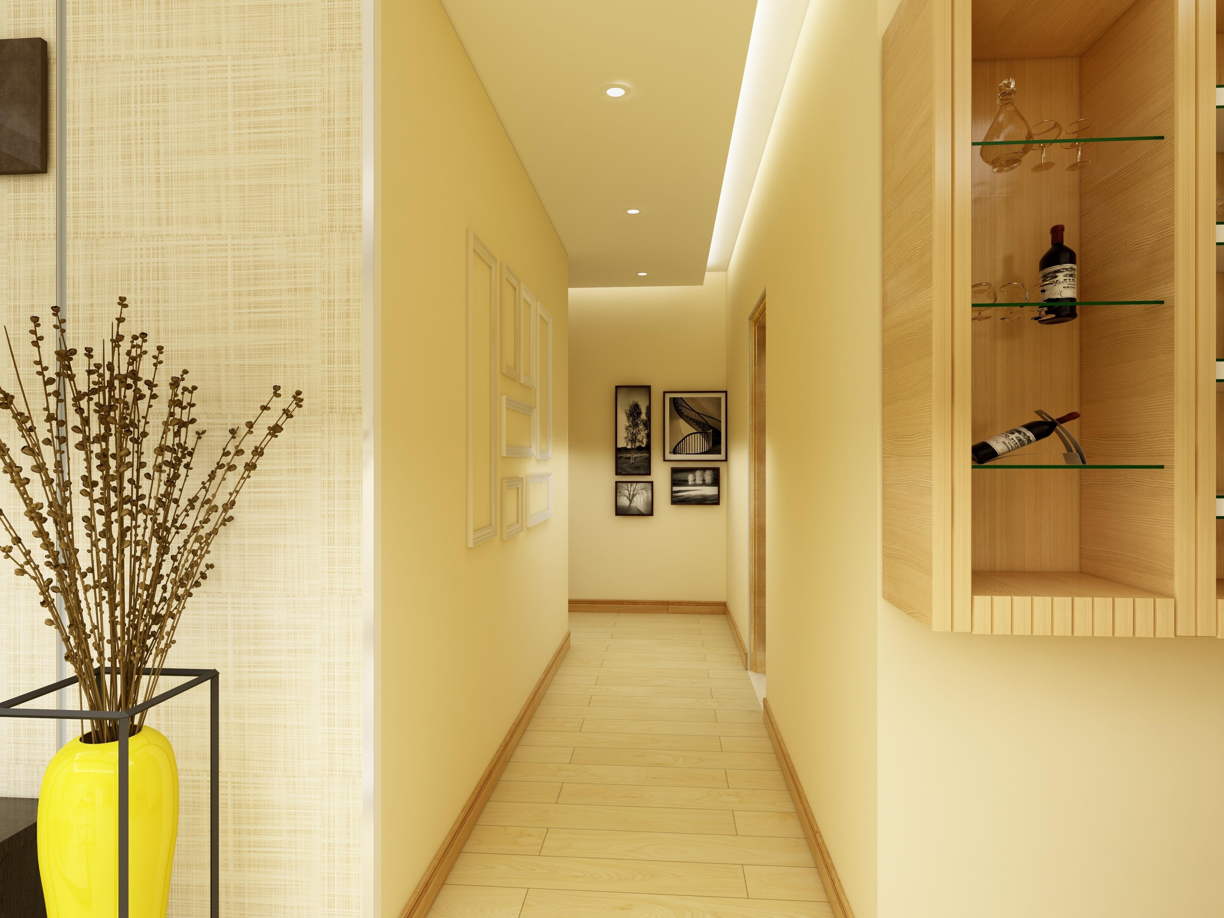 90㎡中式风格家走廊设计图