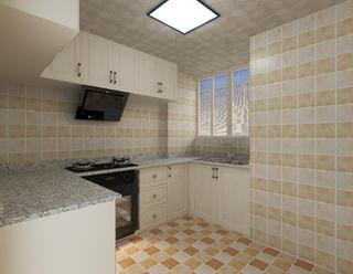 简欧复式装修厨房效果图
