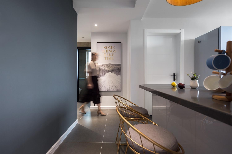 二居室北欧之家厨房吧台设计