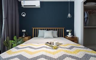 二居室北欧之家床头背景墙图片