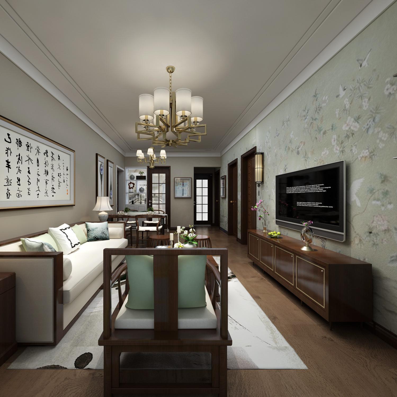 0 新中式轻奢办公室装修效果图 中式风格办公室大户型140平米以上装修