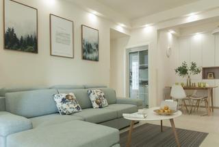 三居室北欧风格家沙发背景墙图片