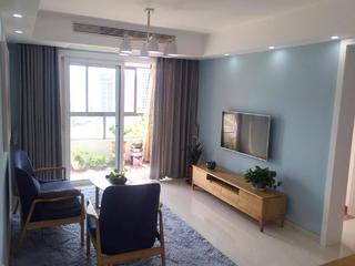 110平北欧风格装修客厅实景图