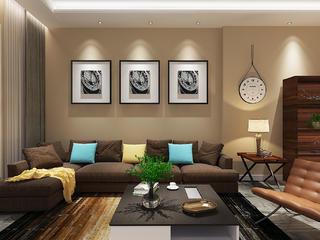 现代简约三居之家沙发背景墙图片
