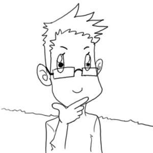眼镜男头像手绘
