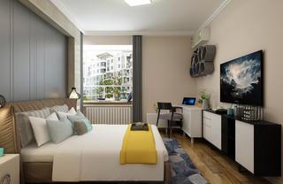 三居室现代简约设计电视柜图片