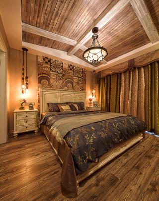 二居室美式装修卧室设计图