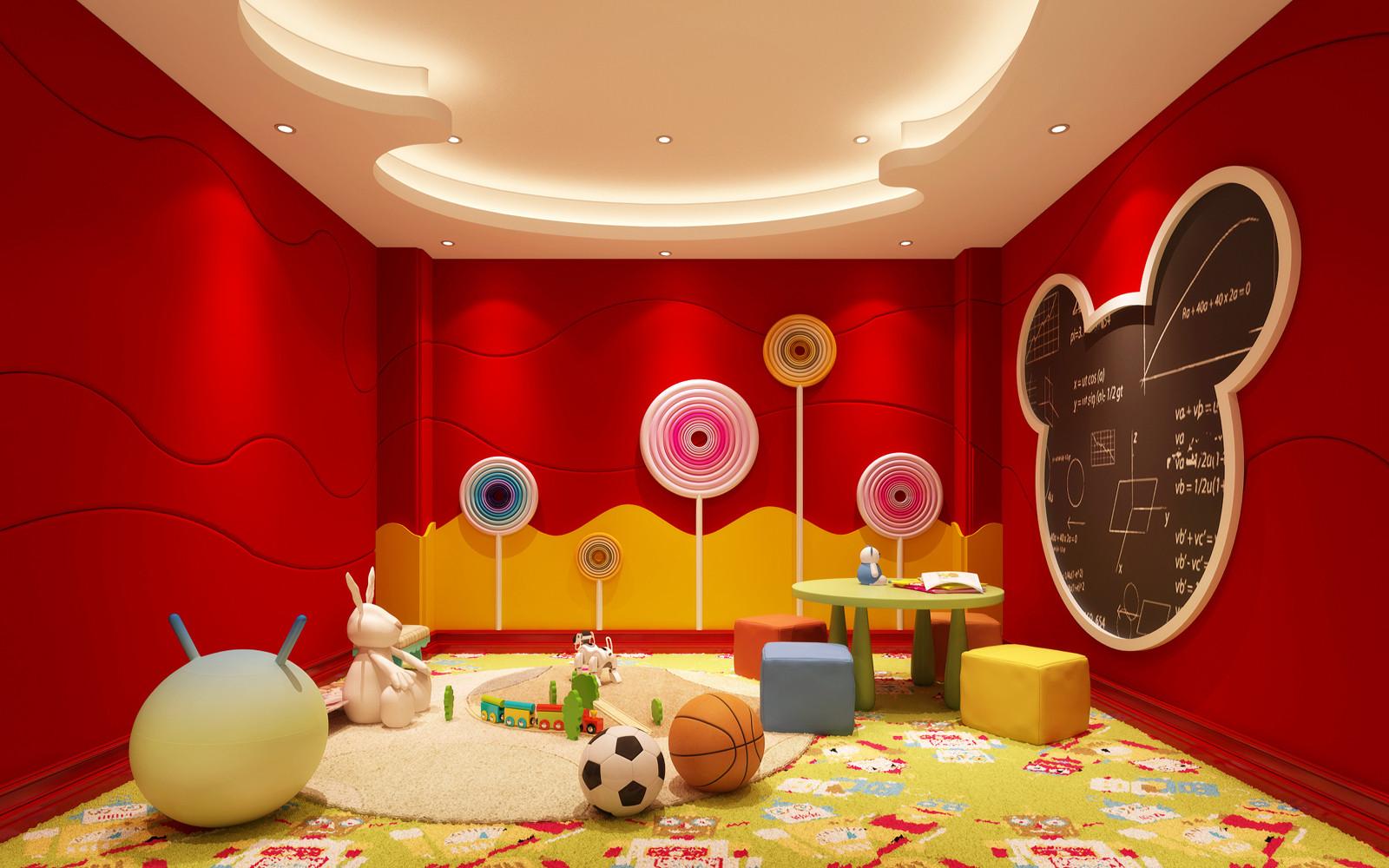 美式别墅装修儿童娱乐室设计图