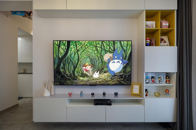 简约三居装修电视墙设计图