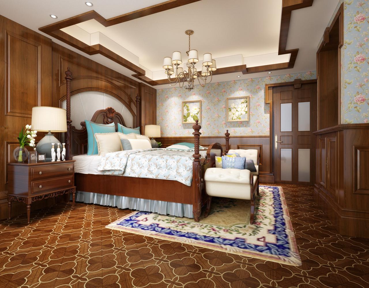 美式别墅装修次卧效果图