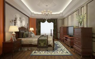 大户型美式风格家卧室效果图