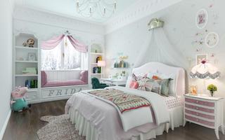 大户型美式风格家儿童房布置图