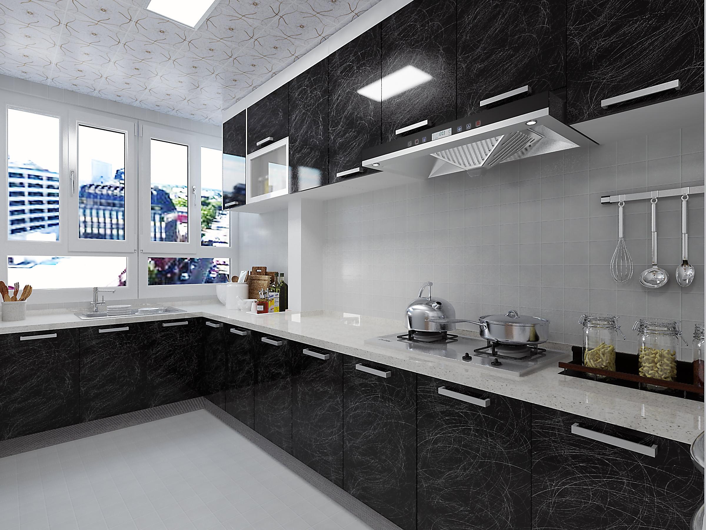 130㎡简约装修厨房效果图