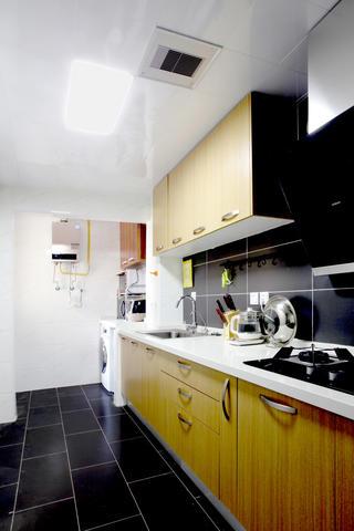 北欧二居室空间厨房实景图
