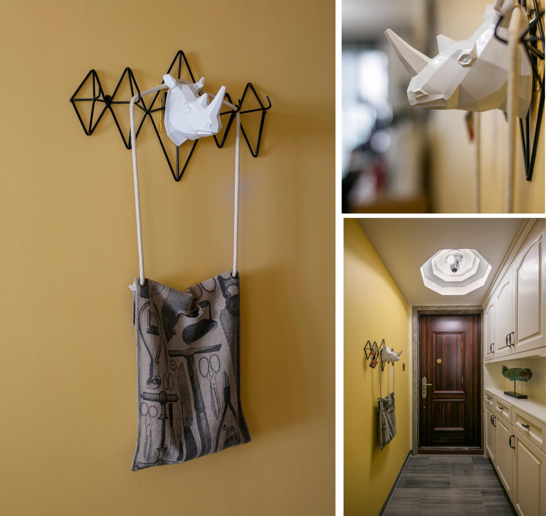 100平北欧风格家门厅走廊设计图