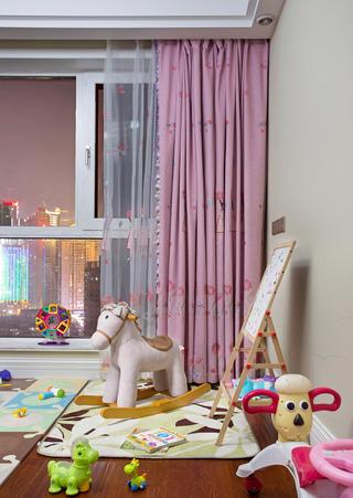 美式三居装修儿童房布置图
