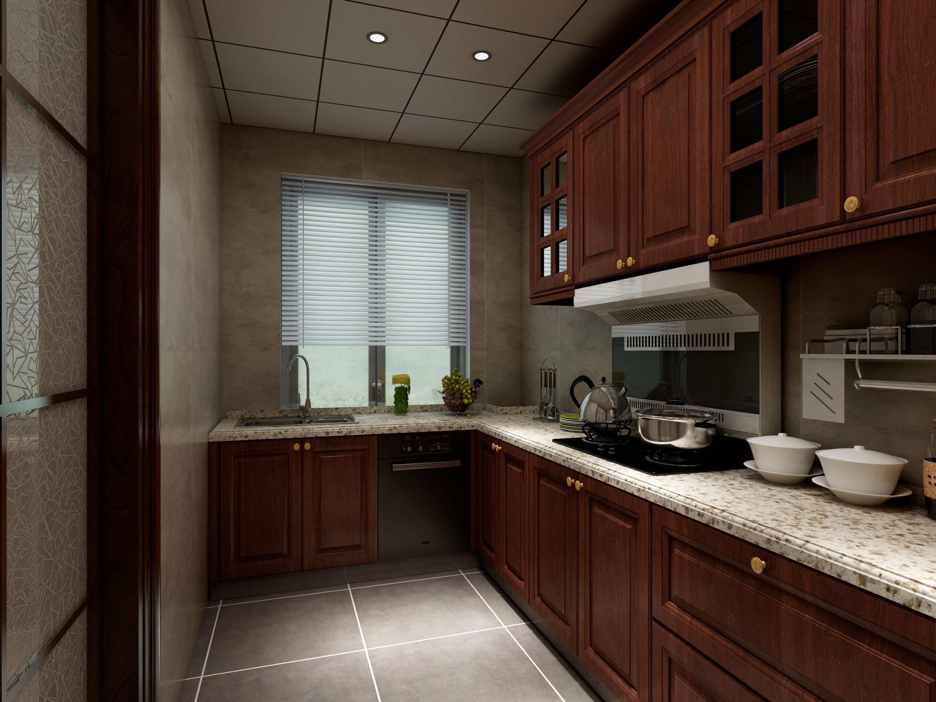 简约中式装修厨房构造图
