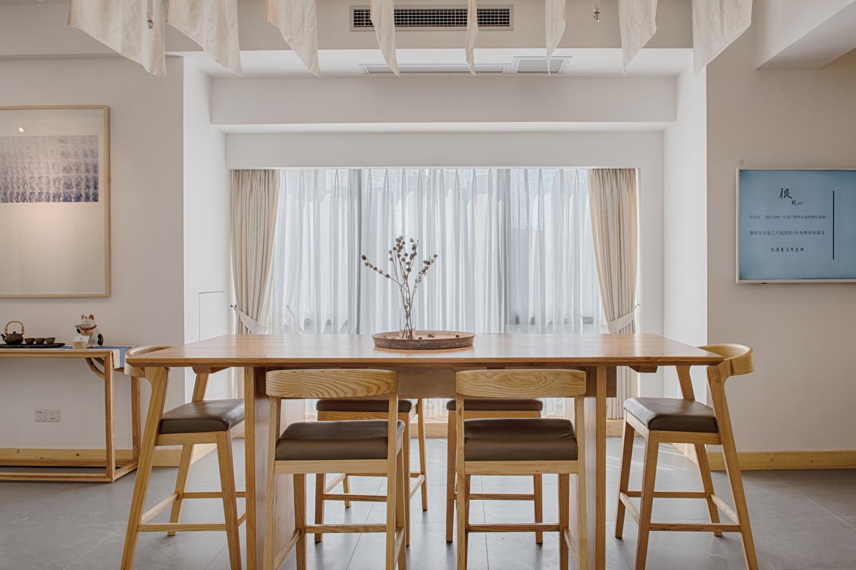 日式布艺展馆装修桌椅图片