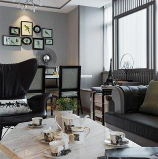 二居室现代简约空间 绅士气质