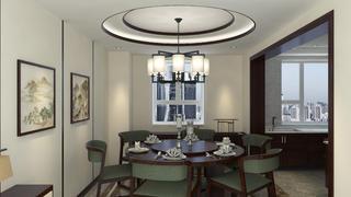 大户型中式装修餐厅设计图