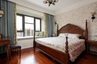 140平美式风格装修卧室效果图