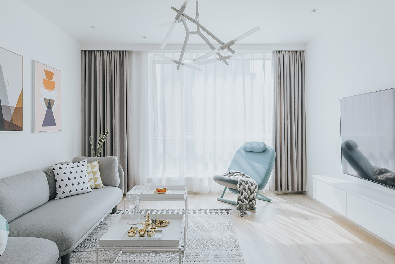 110平北欧风之家客厅设计图