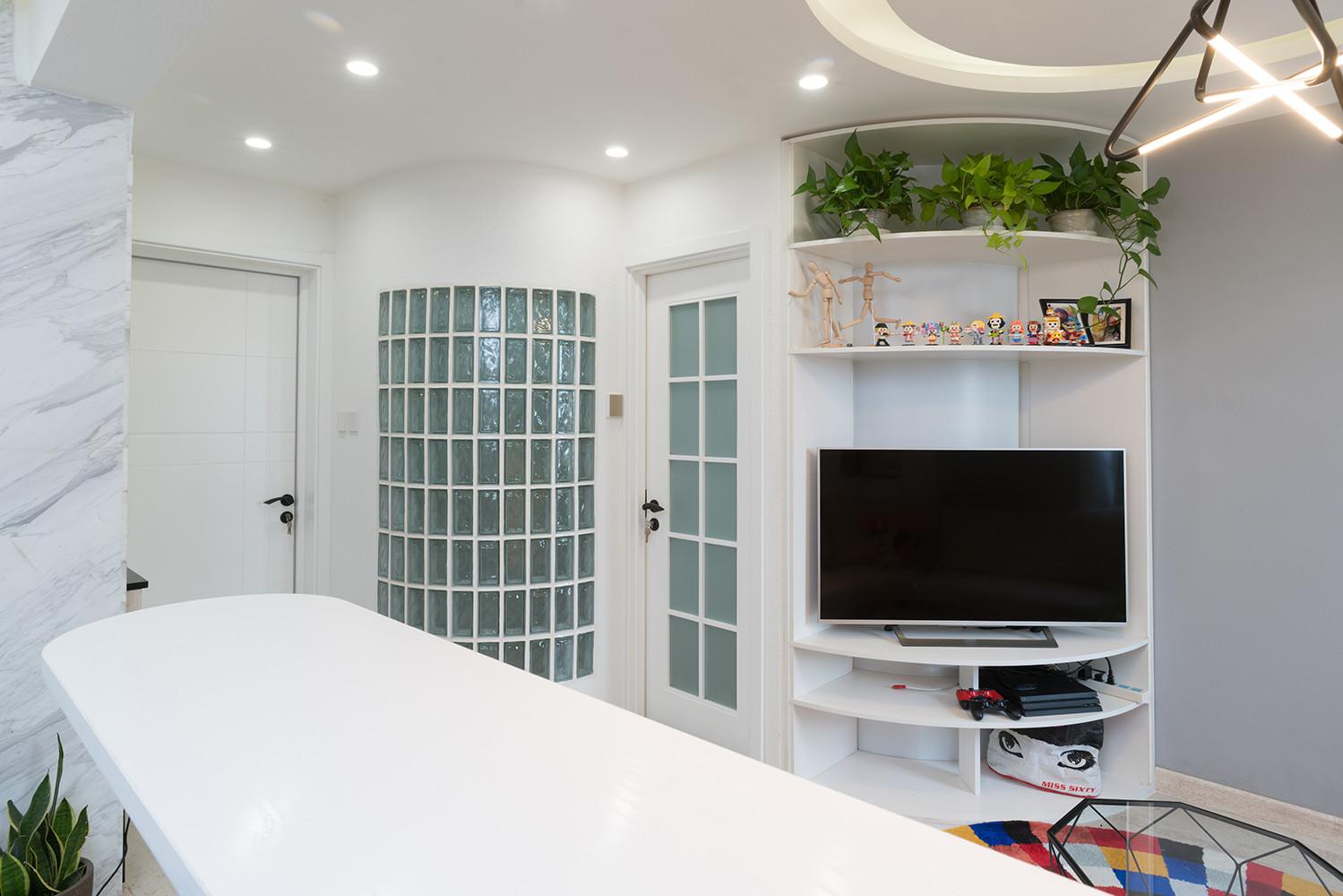 56平小户型装修电视墙设计