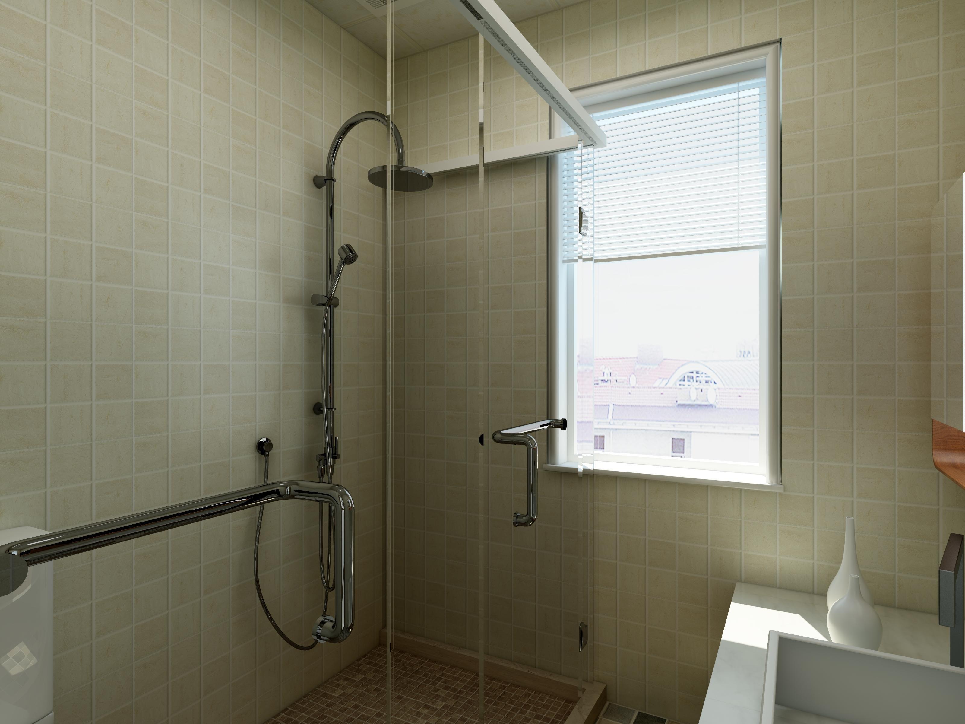 82平现代中式空间卫生间效果图