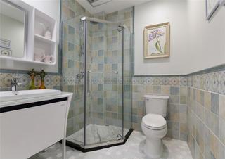 130㎡欧式风格家卫生间设计图