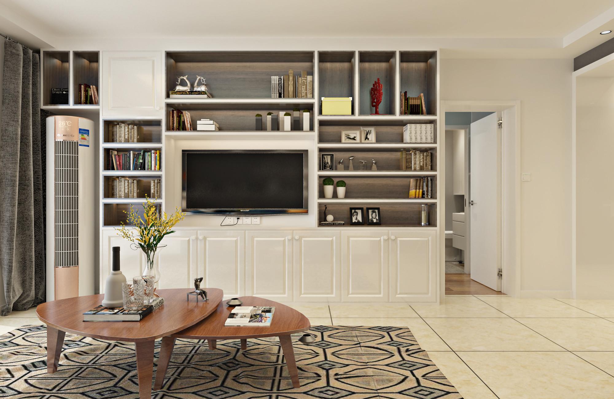 北欧二居装修电视柜设计图