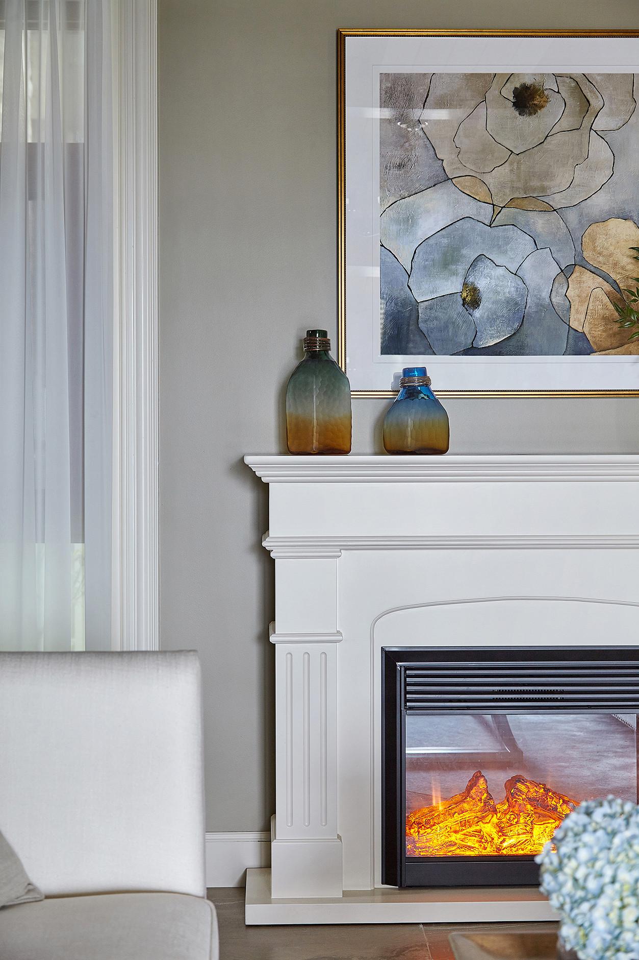 欧式别墅装修客厅壁炉图片