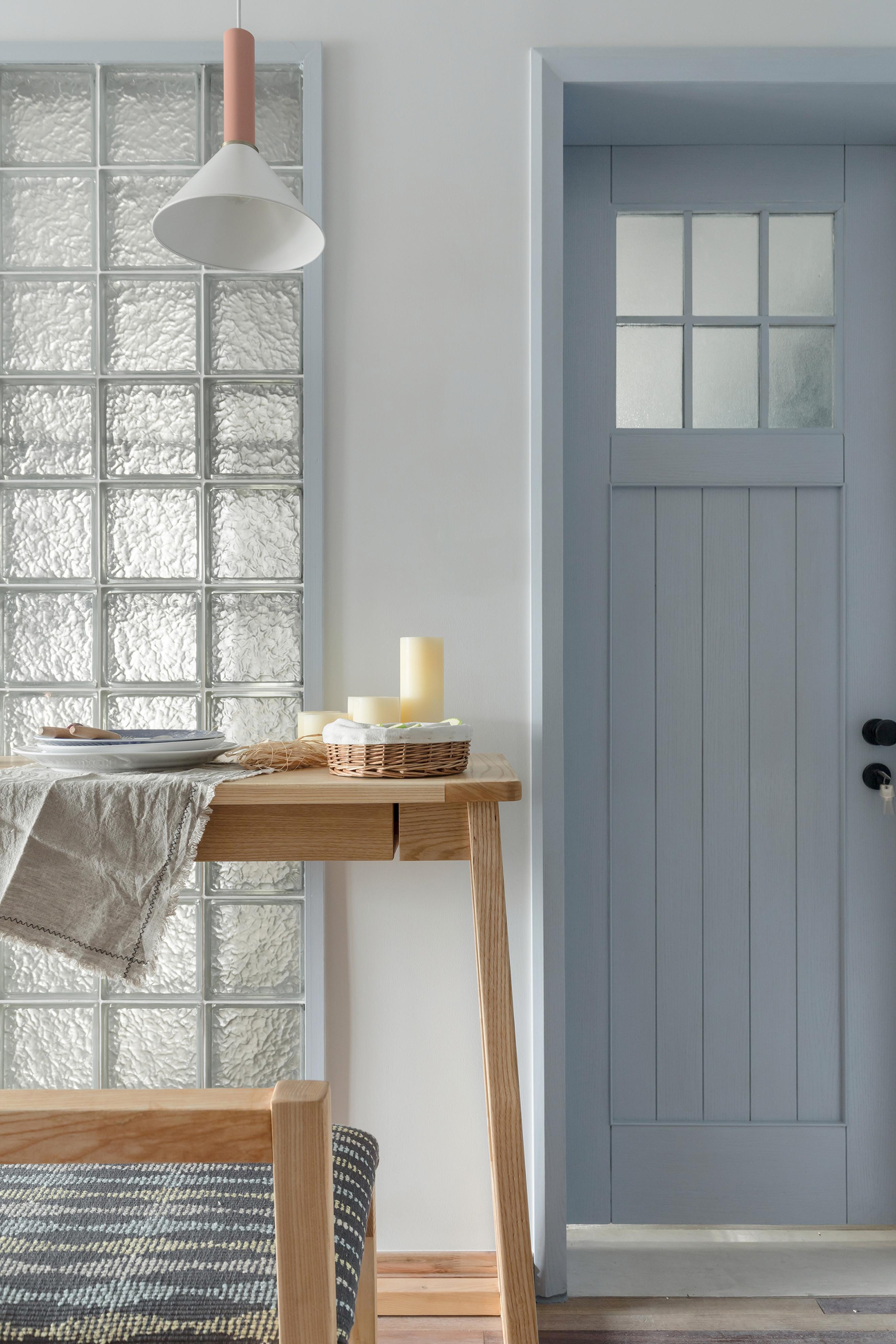 72平一室一厅混搭装修玻璃墙砖设计