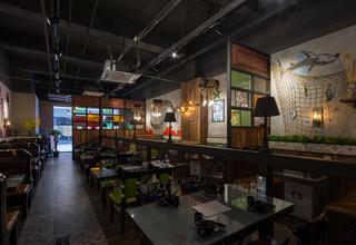 鲈鱼主题餐厅装修餐厅空间规划效果图