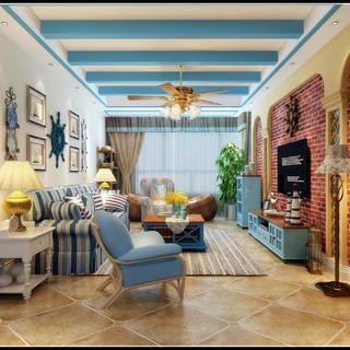 130平地中海风格家 蔚蓝海岸