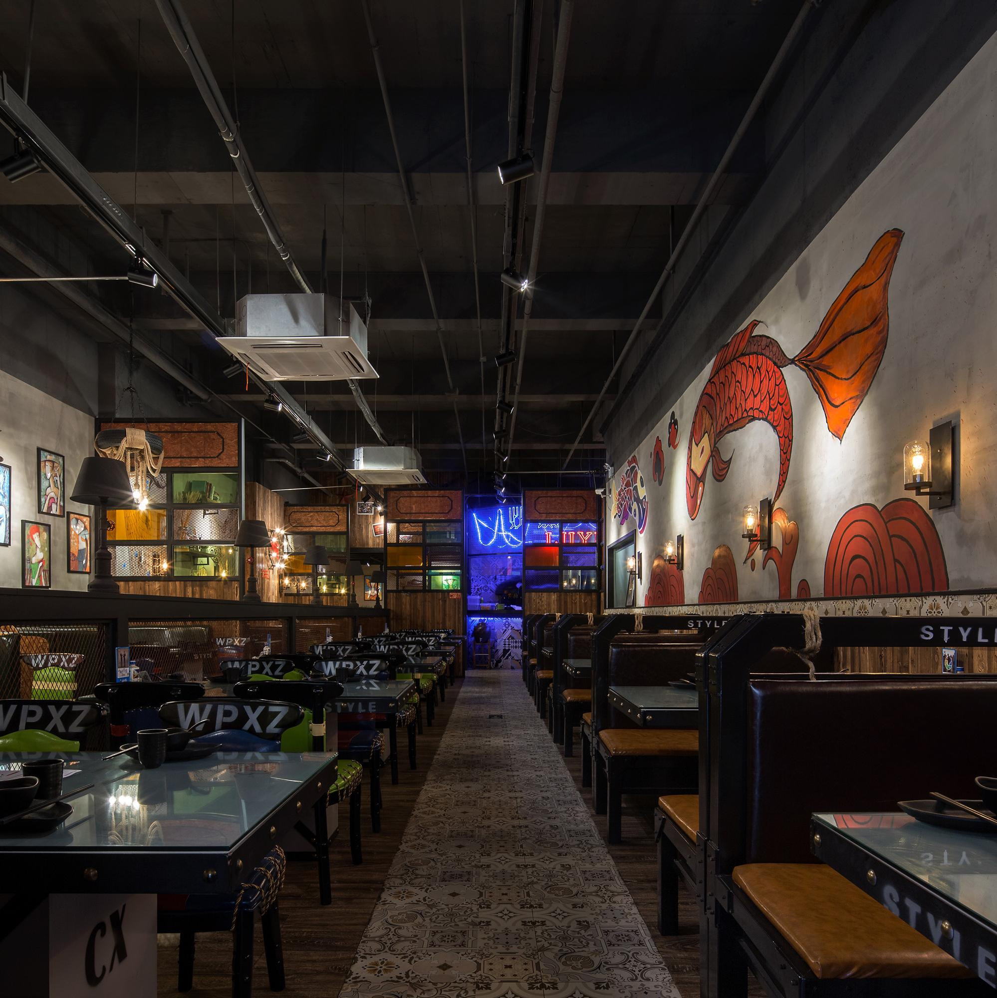 鲈鱼主题餐厅装修效果图