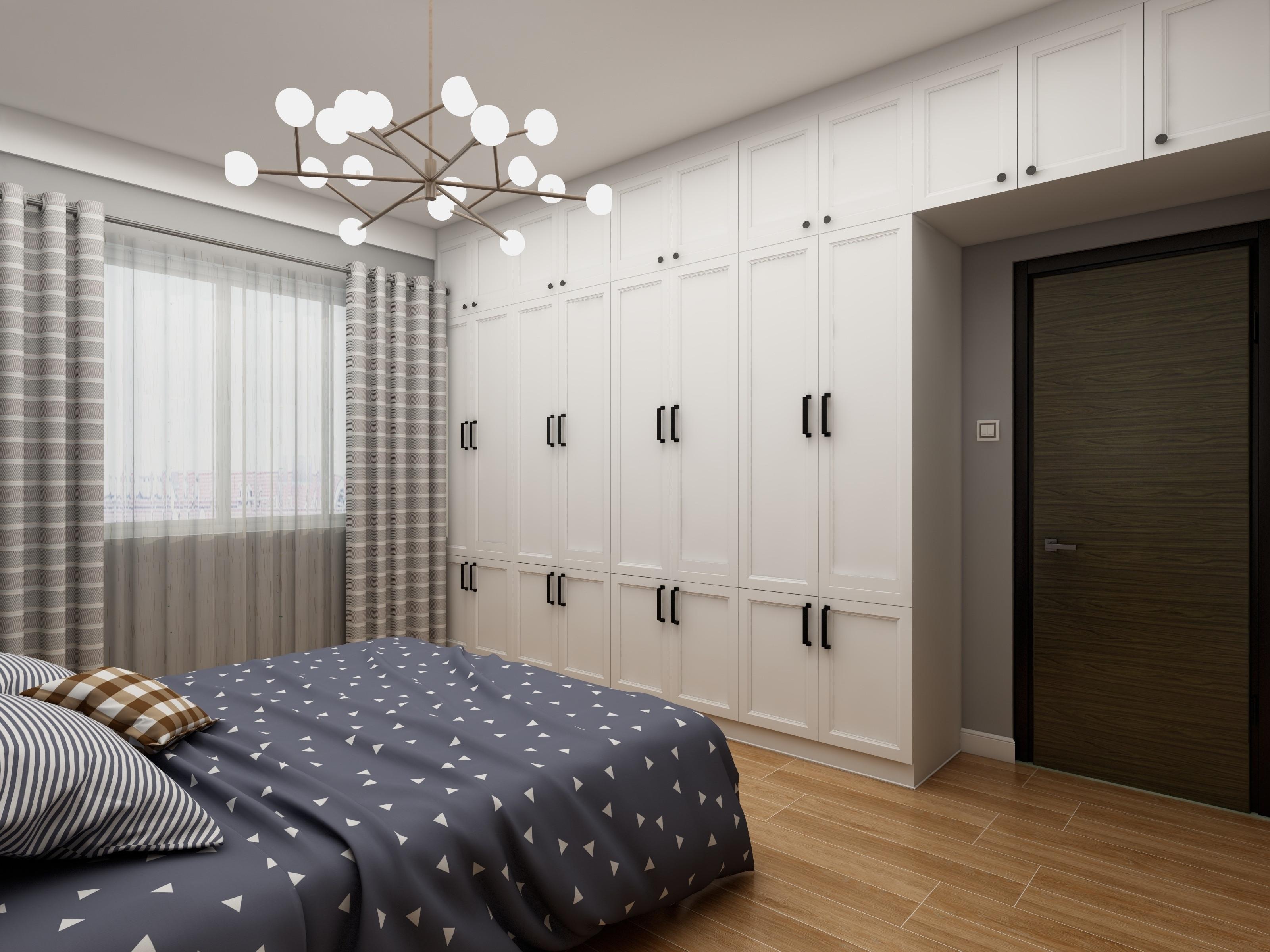 80平三居室空间衣柜图片
