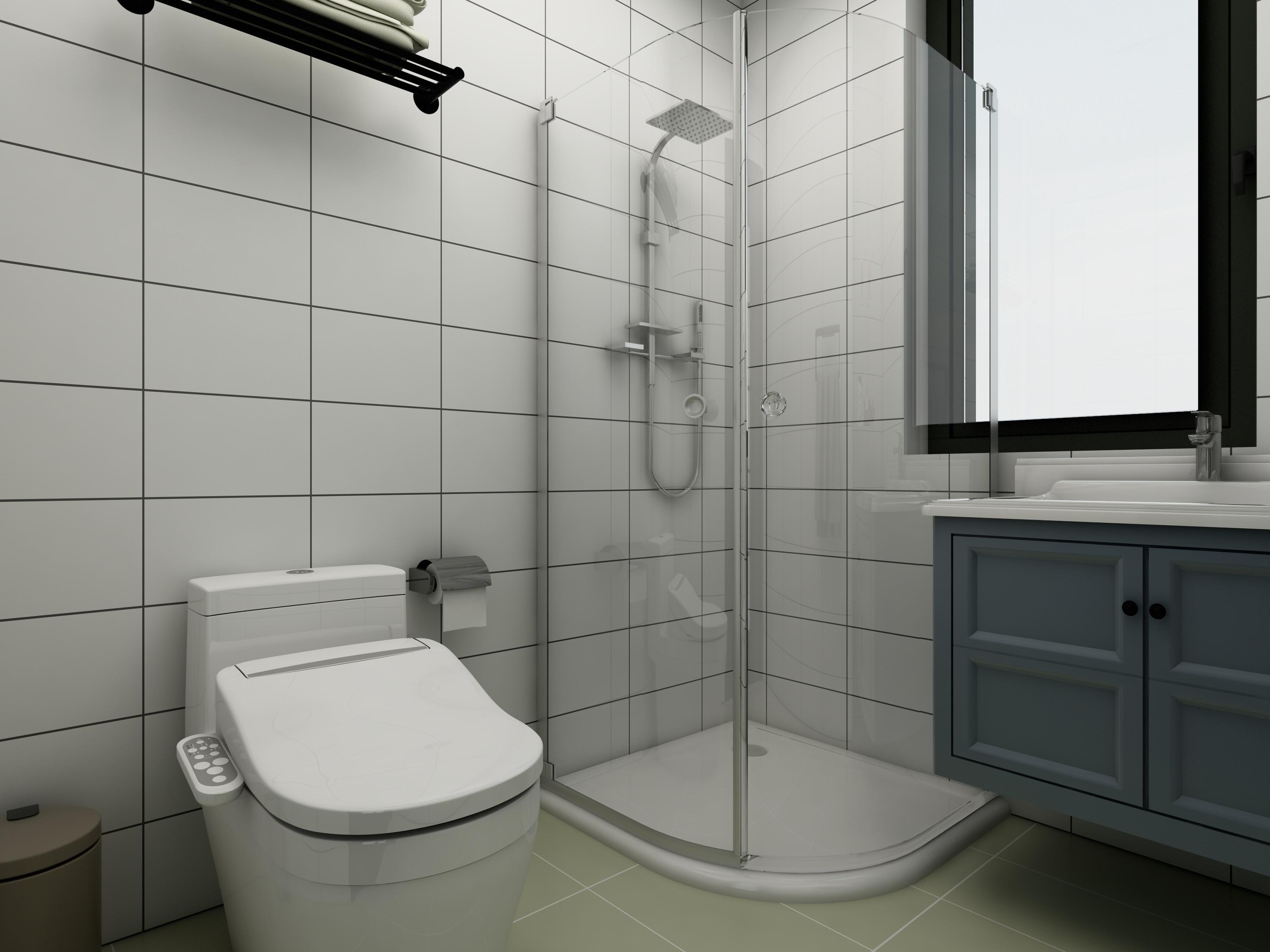 80平三居室空间卫生间装潢图
