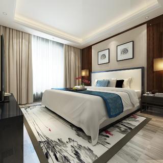大户型中式装修卧室设计图