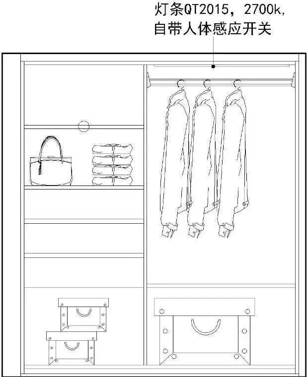 二楼卧室所用柜体收纳空间结构图:1680*1208(左);1700*1610(右)