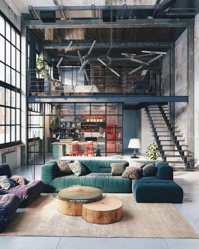 loft复式公寓设计,倾心于质朴文艺范图片