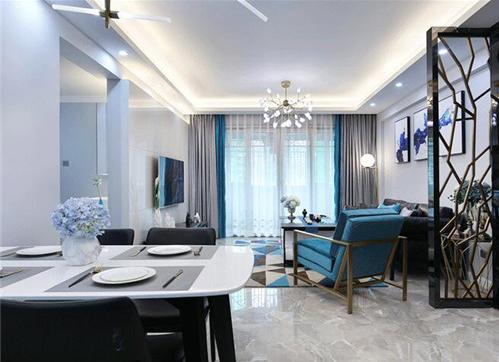 现代简约装修样板间 简约而不简单的90平三居室