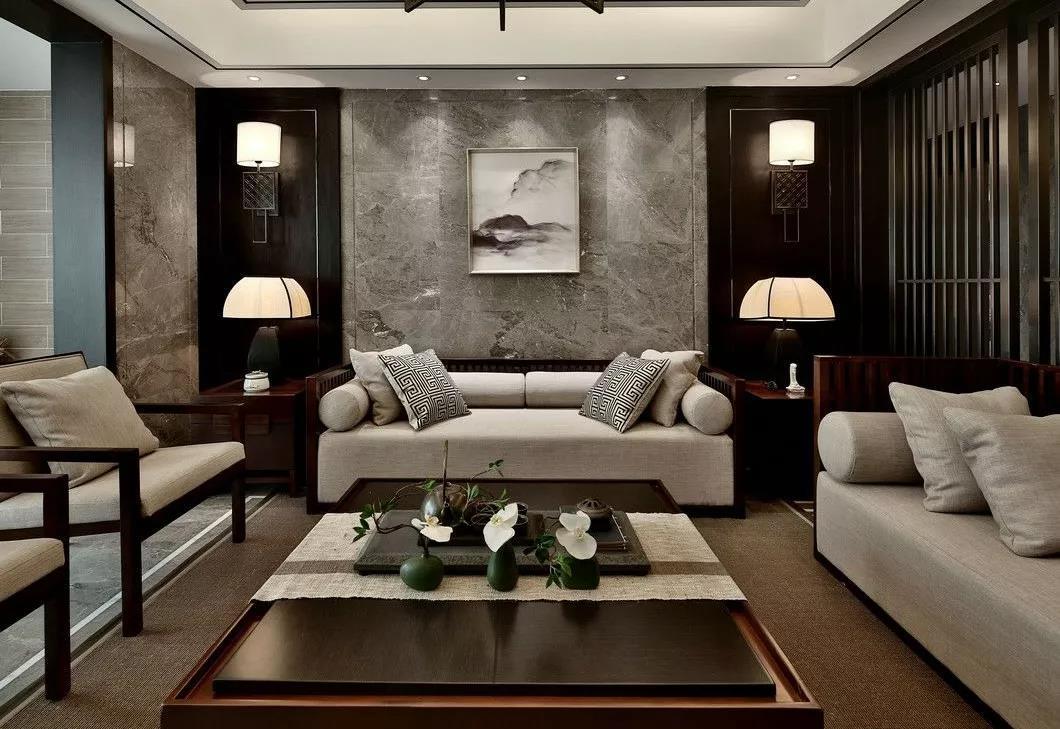 沙发背景墙之新中式