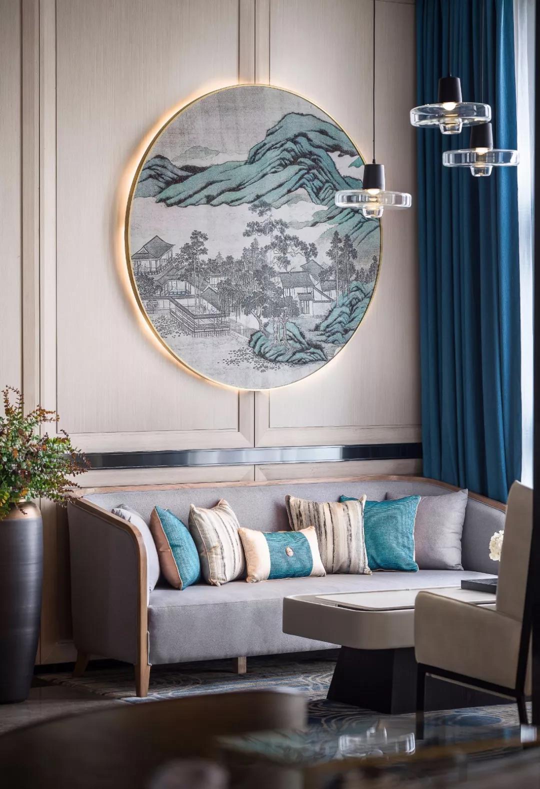 沙发背景墙之新中式图片
