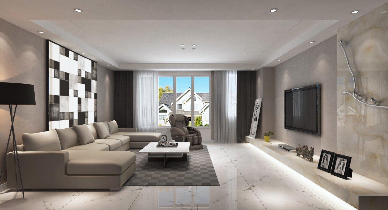 驰升装饰吕设计:轻奢现代风黑白灰经典风格住宅 唤醒你的视觉