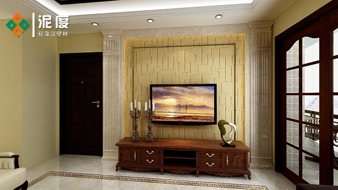 深圳硅藻泥电视背景墙的优点是什么?