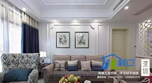 家庭装修,石膏线条不仅仅用来吊顶,也可以用来做背景墙,沙发墙