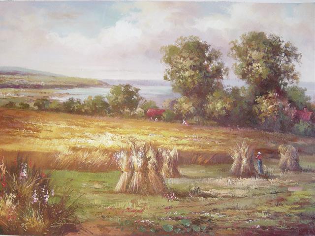 写实风景油画更注重绘画语言的描述,通过油画艺术来关注人与社会的
